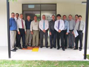 AquaGen staff and LBCCG President